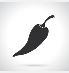 silhouette red spicy hot chili pepper vector image
