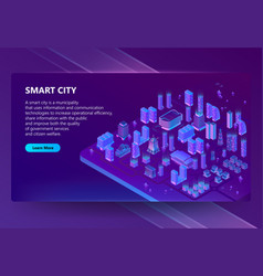 Site with 3d isometric ultraviolet vector