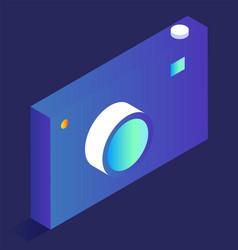 smart home device photo camera isometric model vector image