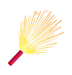 sparkler set of fireworks pyrotechnic devices vector image