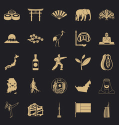 Sporting pastime icons set simple style vector