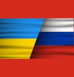 the flags russia and ukraine conflict november vector image