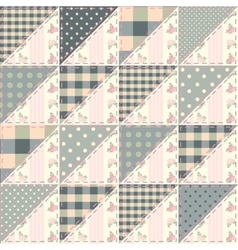The patchwork quilt in shabchic style from vector