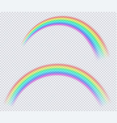 transparent colored rainbow arc a circle vector image