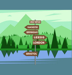 United kingdom map country infographics vector