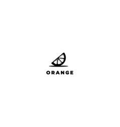 vintage retro fruit slice orange logo design vector image