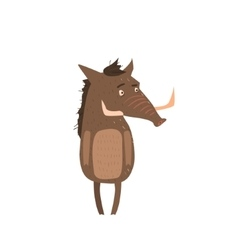 Warthog Standing On Two Legs Flat vector