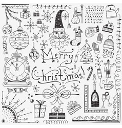 Winter holidays - doodles set 3 vector image
