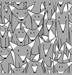 Wolves family seamless pattern for your design vector