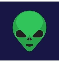 Green cartoon aliens head isolated vector image vector image