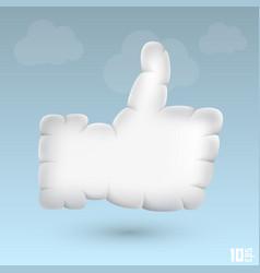 Like cloud vector