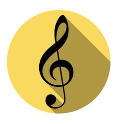 music violin clef sign g-clef treble clef vector image