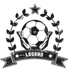 Soccer legend vector
