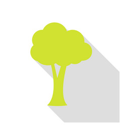 tree sign pear icon with flat style vector image vector image