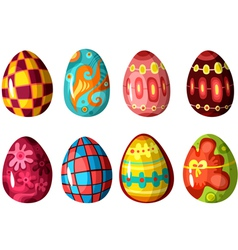egg set vector image vector image