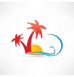 palm rest icon vector image