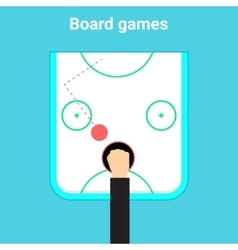 Table game air hockey vector image