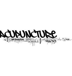 acupuncture schools online text word cloud concept vector image