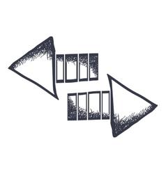 arrow icon image vector image vector image