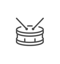drum line icon vector image