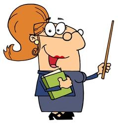 Professor Woman vector image vector image
