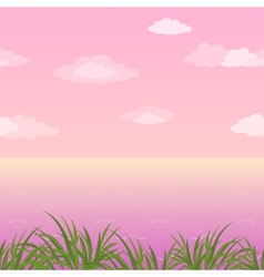 Sea landscape seamless grass and sky vector image vector image