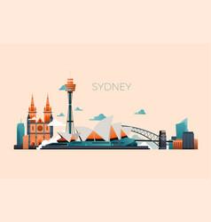 australia travel landmark landscape with vector image vector image