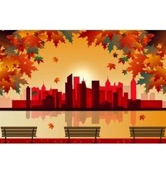 Autumn city vector image vector image