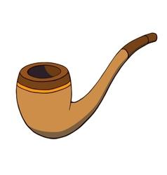Cartoon tobacco pipe vector image