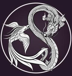 Dragon Tattoo Drawing vector image