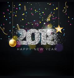 Happy new year 2018 on shiny vector