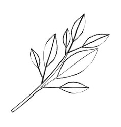 monochrome blurred silhouette of tree branch with vector image vector image