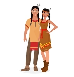 Native American Indian family American Indians vector image