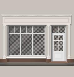 traditional shop facade vector image