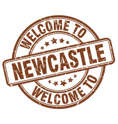 Welcome to newcastle brown round vintage stamp vector