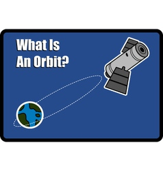 What is an orbit vector image vector image