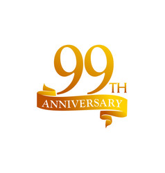 99 year ribbon anniversary vector image