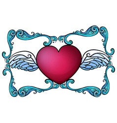 A heart decor vector