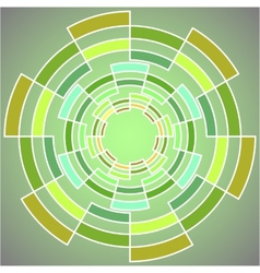 Abstract geometric figure for graphic design vector image