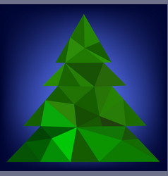 abstract green christmas tree-template vector image