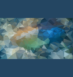 Abstract irregular polygon background blue green vector
