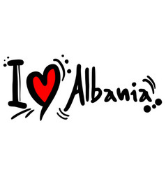 albania love vector image