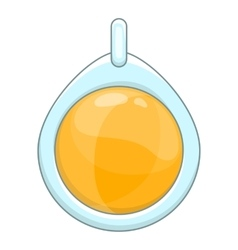 Amulet icon cartoon style vector