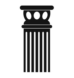 Ancient column icon simple style vector