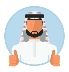 arabic muslim man gesture ok vector image