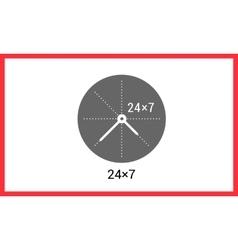 Around clock linear pictogram vector
