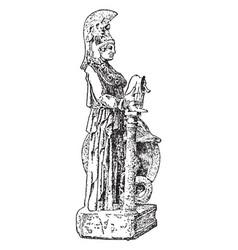 Athena vintage vector