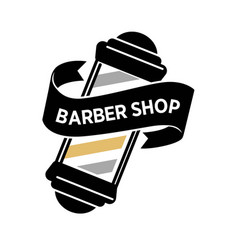 Barber shop isolated logo with big vintage mirror vector