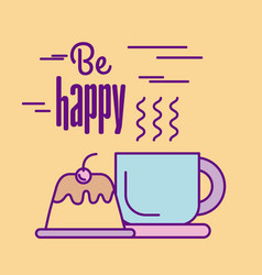 be happy food vector image