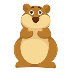 big plump hamsters with scared round brown eyes vector image